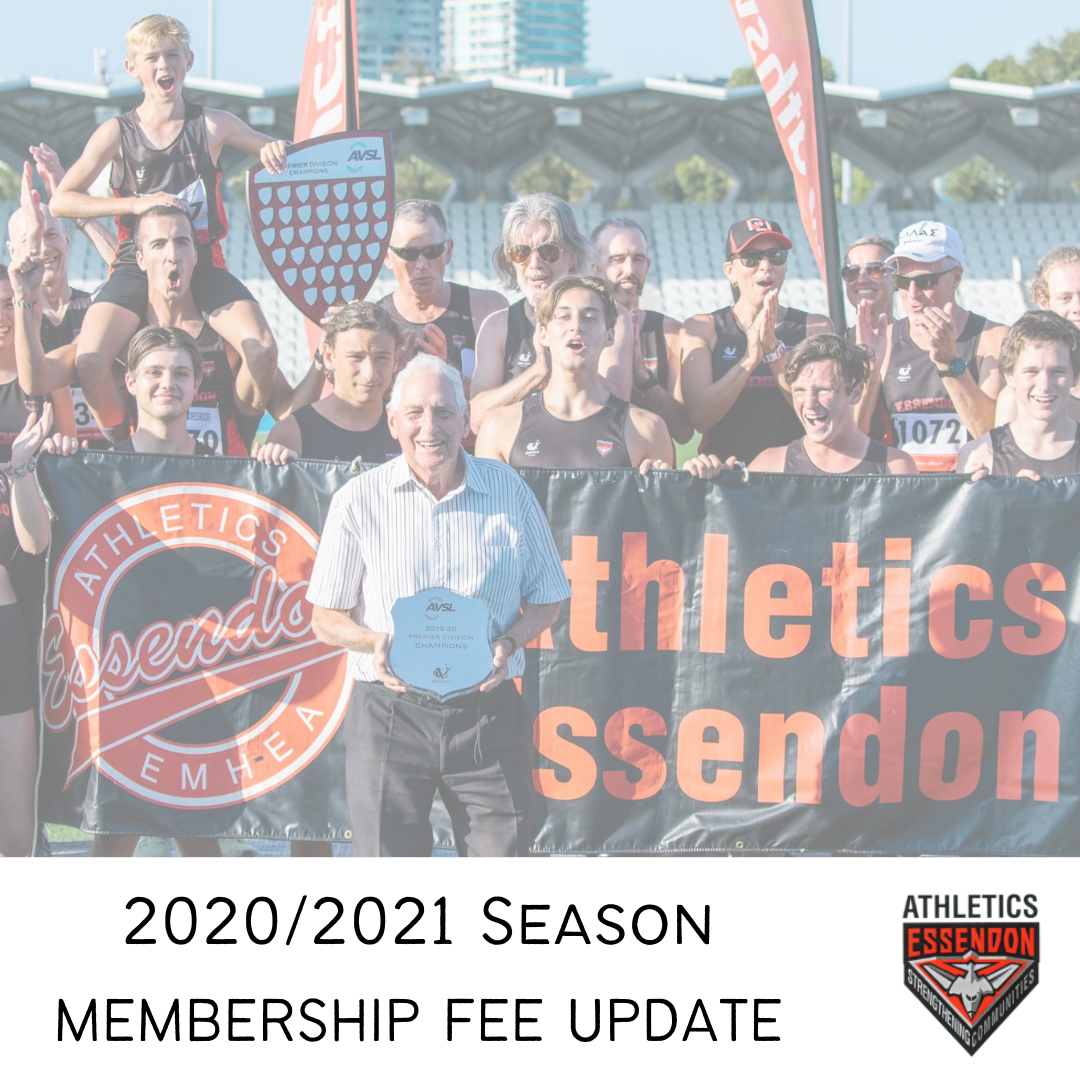 2020/2021 Season Membership Fee Update